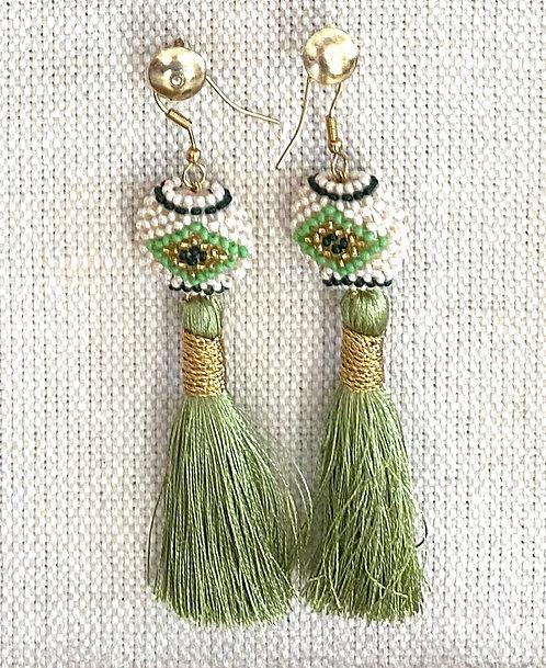 Moss Green Kai Earrings