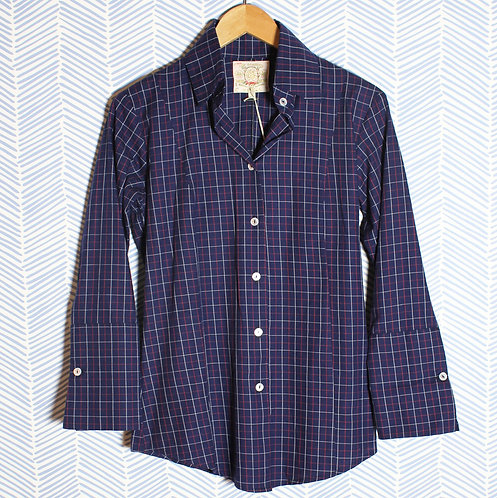 Navy flannel check
