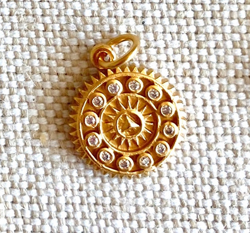 Gold Compass Charm