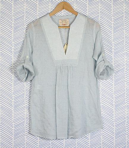 Crinkle stripe tunic