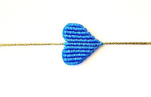 Large Cobalt Heart Bracelet