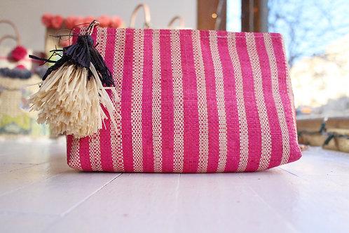 Pink Striped clutch