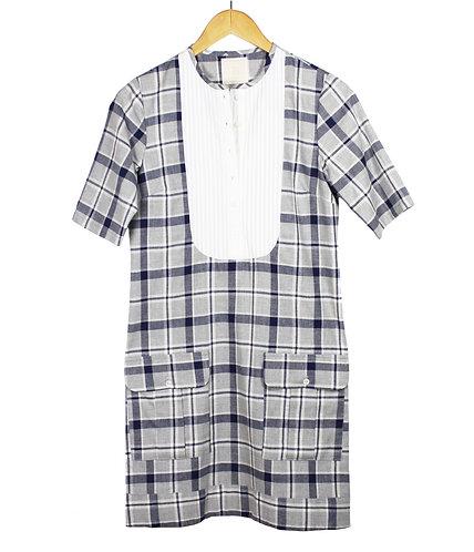A-Line Pocket Flannel Dress