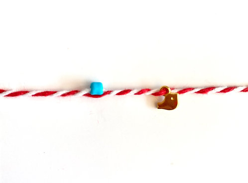Bird Tie Bracelet