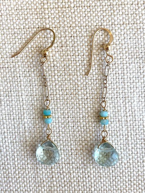 Dangly Aquamarine Earrings