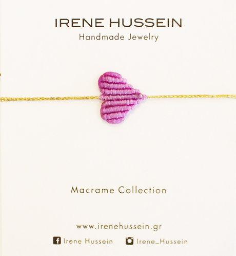 Small purple heart bracelet