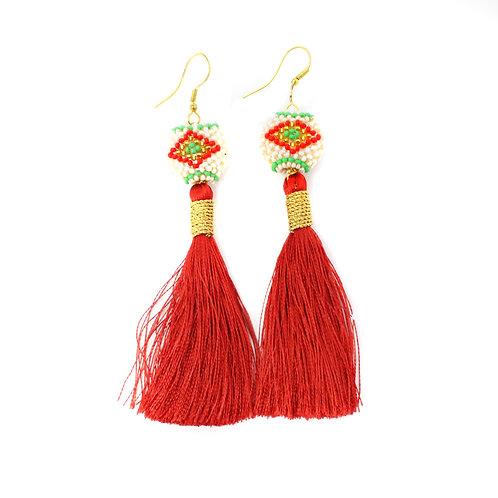Red Silk Kai Earrings