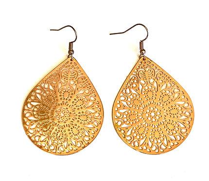 Rose Gold Boho Earrings