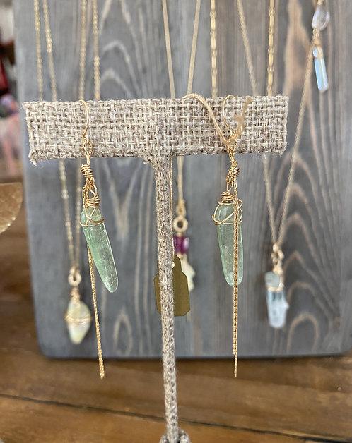 Fairy Earring Green Kyanite