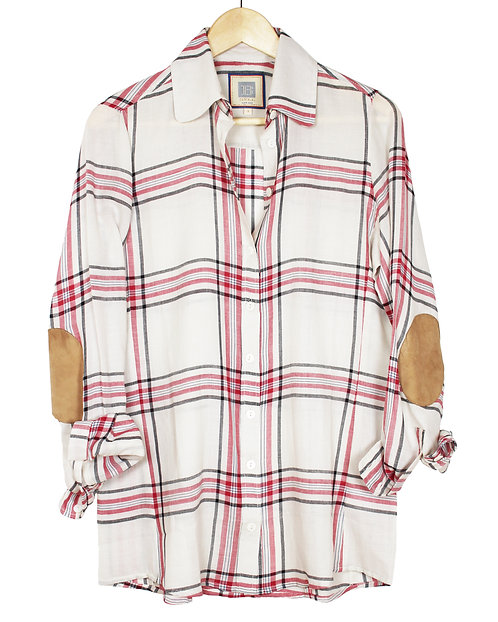 Pink and White Basic Flannel