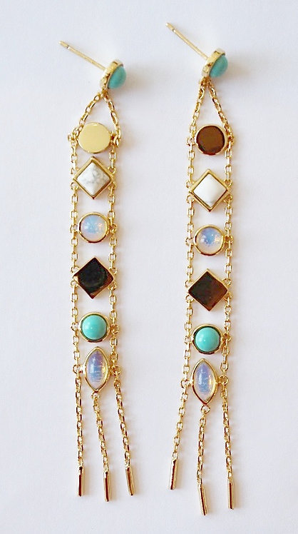 colorful dangle earring