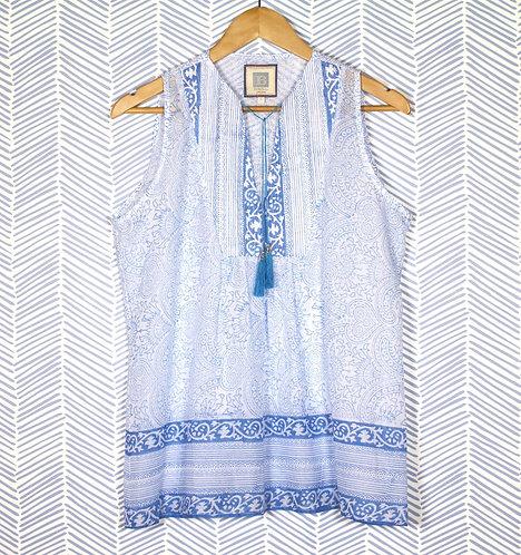 Blue Paisley tunic