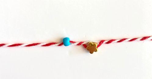 Flower Tie Bracelet