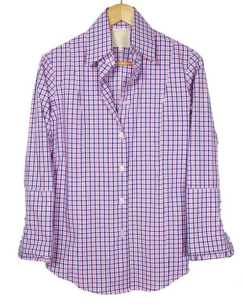 Ruffle french cuff shirt
