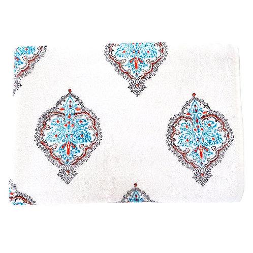Turquoise Motif Towel