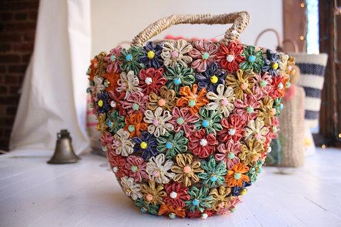 Rinestone flower basket