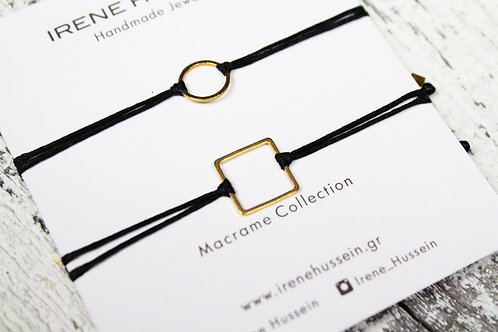 Sold out- Double circle square bracelet