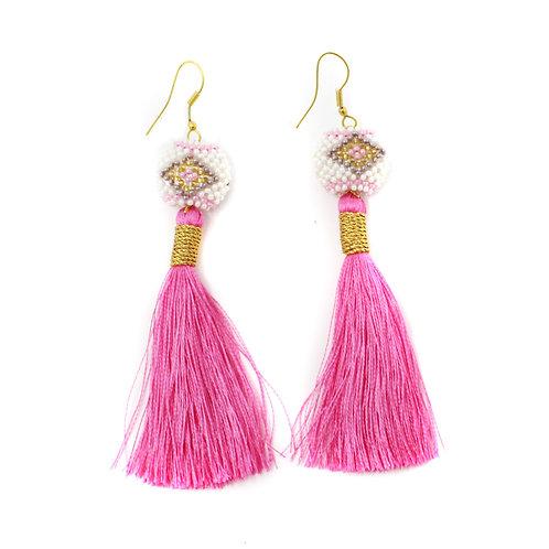 Bright Pink Kai Earrings