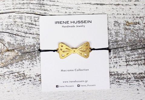 Gold bow bracelet