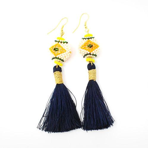 Black and Yellow Kai Earrings