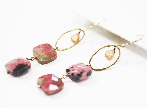 Pink Stone Earrings