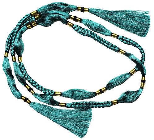 Teal thread belt