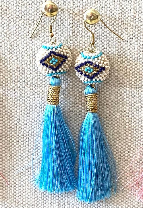 Blue Silk Kai Earrings