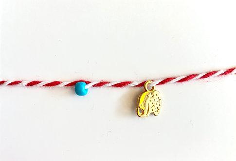 Elephant Tie Bracelet