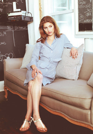 French cuff shirt dress