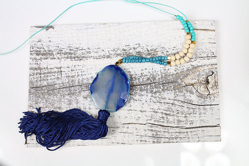 Tassel and Gemstone necklace