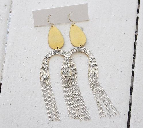 Metal dangly earrings
