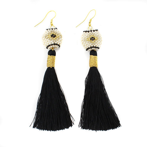 Black Silk Kai Earrings