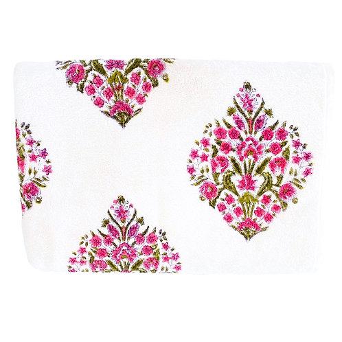 Pink Green Motif Towel