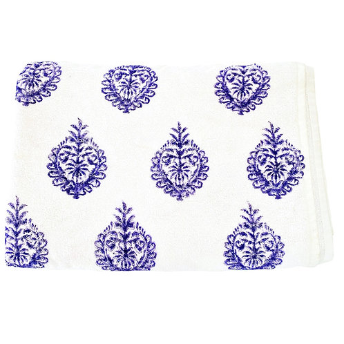 Navy Motif Towel
