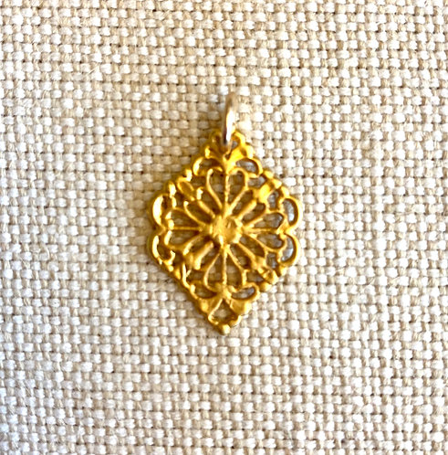 Gold Etched Charm