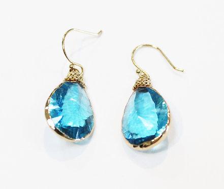 Aquamarine crystal drops