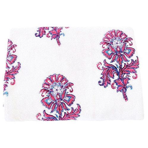 Pink Blue Flower Towel