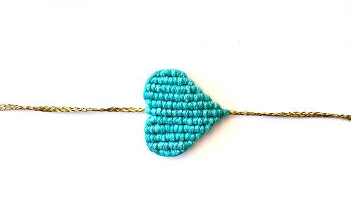 Large Light Green Heart Bracelet