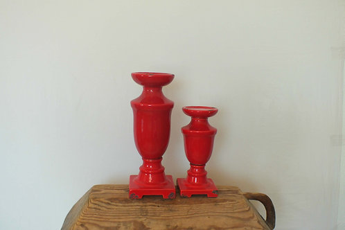 Ruby Red Candlestick Large