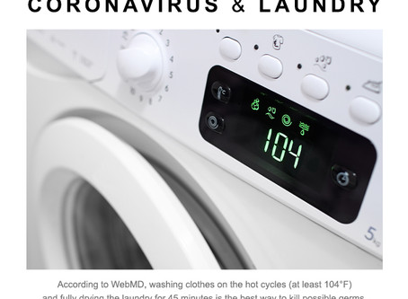 How can we minimize the spread and risk of exposure through laundry?