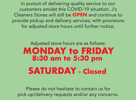 Store Hours Update