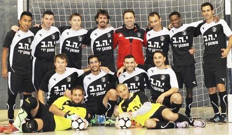 משחק אימון ראשון של מועדון כדורגל אולמות אריאל - הכנה לליגת כדורגל אולמות