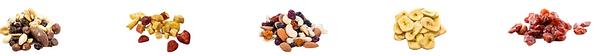 6 verschiedene Premium-Snacks als Give Away: Vegane Fruchtgummis, Nüsse und Trockenfrüchte