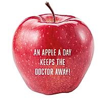 Apfel mit Logo als gesundes Give Away