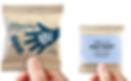 Beispiel für Verpackung von give aways mit Logodruck
