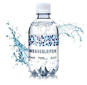 Kleine Wasserflasche mit Logo Druck für Messen