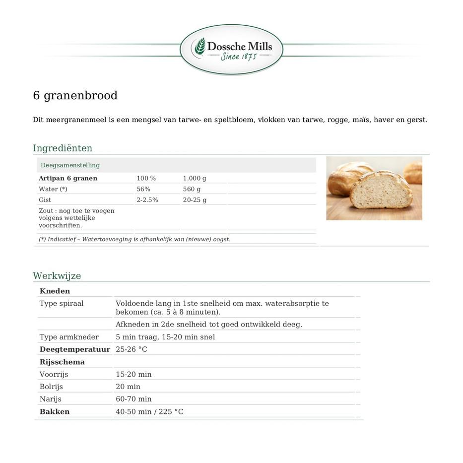 Artipan-Broodmix voor meergranenbrood-AR