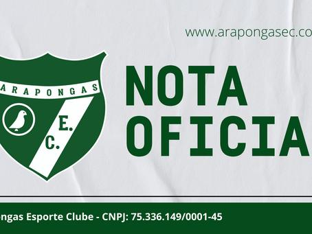 NOTA OFICIAL - Arapongas Esporte Clube não irá disputar a terceira divisão