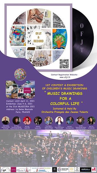 affiche du concours de dessin de musique