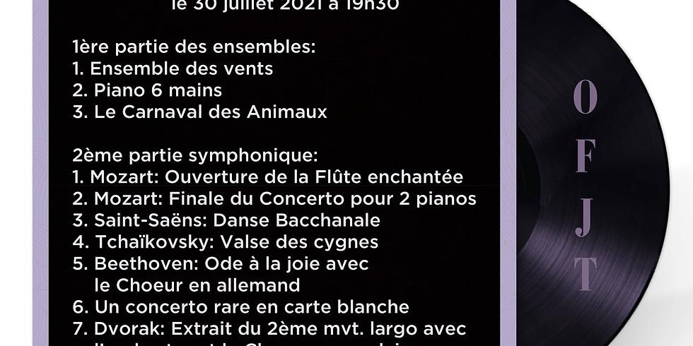 Grand Concert de l'OFJT le 30 juillet 2021 à l'Eglise de la Madeleine à Paris